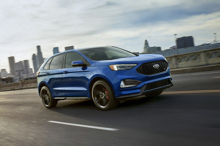 2020 Ford Edge S T on the highway