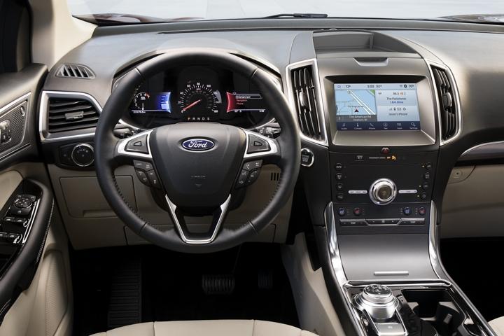 Diseño interior de la Ford Edge 2020