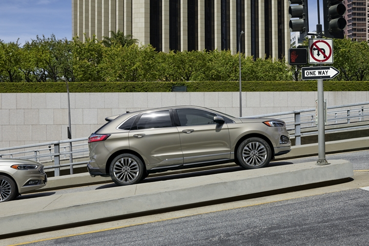 2020 Ford Edge Titanium Elite Shown with Hill Start Assist