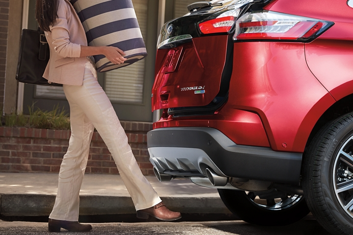 2020 Ford Edge shown with the available Hands Free Foot Activated Liftgate