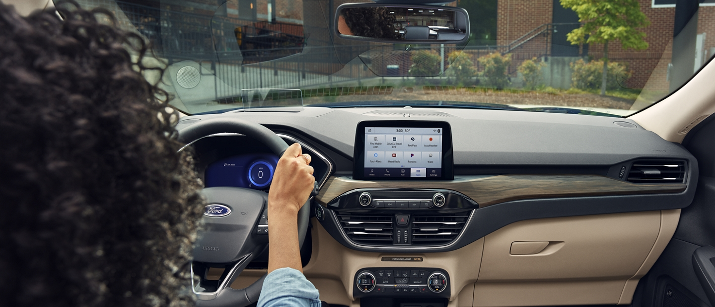 2020 Ford Escape interior in Sandstone with available technologies