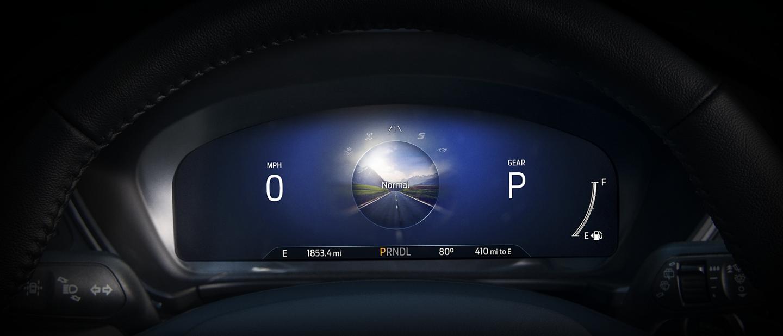 Grupo de instrumentos digital de 12.3 pulgadas disponible muestra el modo de conducción Normal