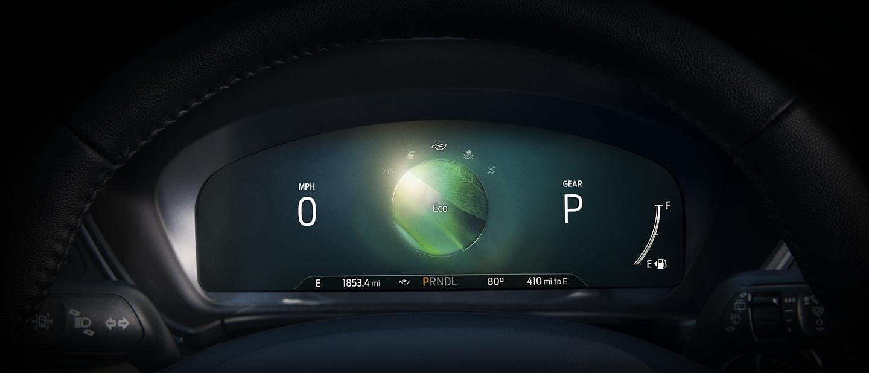"""Grupo de instrumentos digital de 12.3"""" disponible muestra el modo de manejo Eco"""