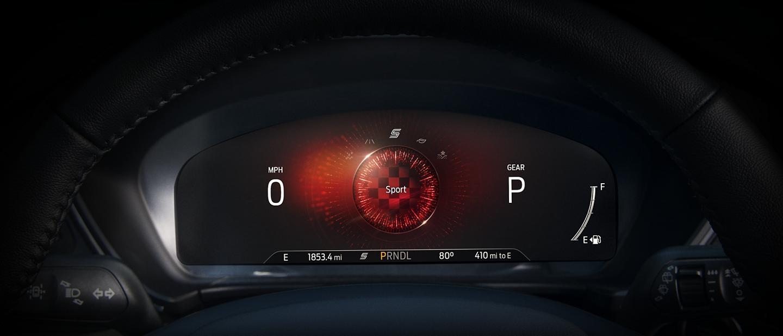 Grupo de instrumentos digital de 12.3 disponible, muestra el modo de conducción Deportiva