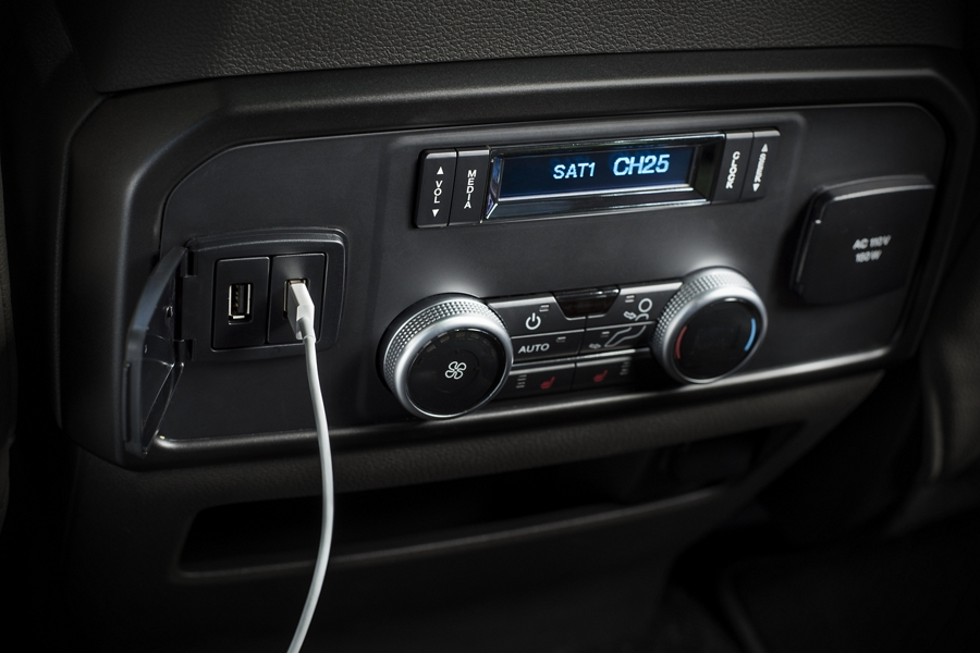 2020 Ford Expedition featuring center console wireless charger with six U S B ports