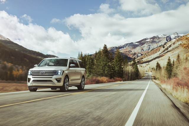 2020 Ford Expedition on the open road powered by 3 point 5 liter EcoBoost Engine
