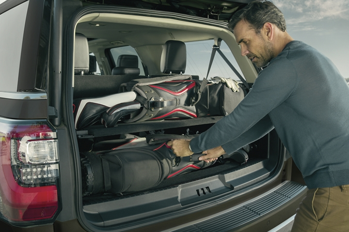 2020 Ford Expedition with Cargo Manager showing easy storage for cargo