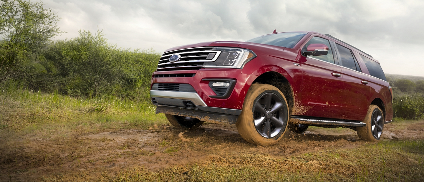 2020 Ford Expedition F x 4 Off Road Package taking a vehicle off road