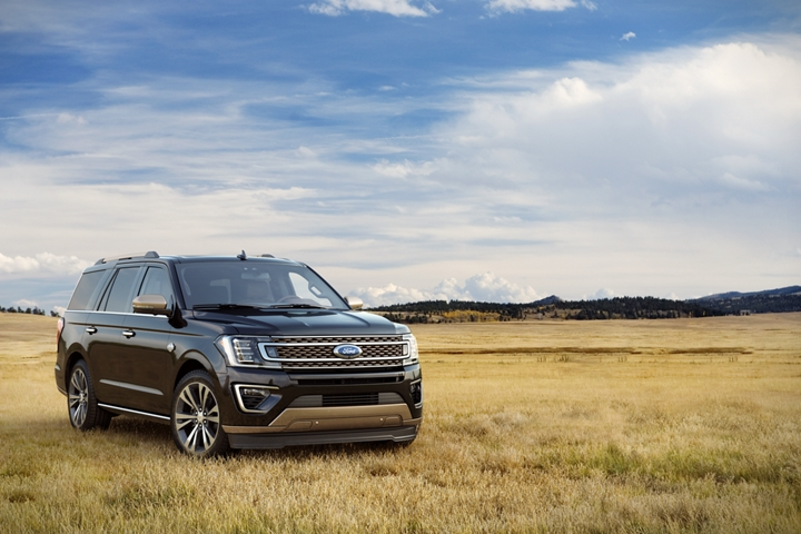 2020 Ford Expedition King Ranch out in the plains shown in Magnetic