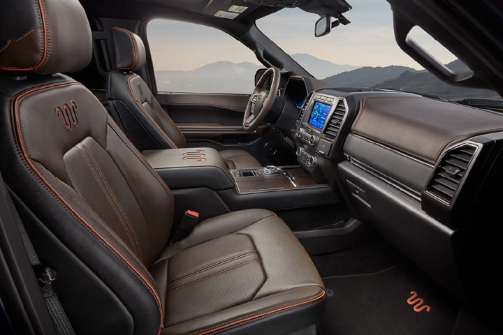 2020 Ford Expedition King Ranch interior showing unique Del Rio leather seating