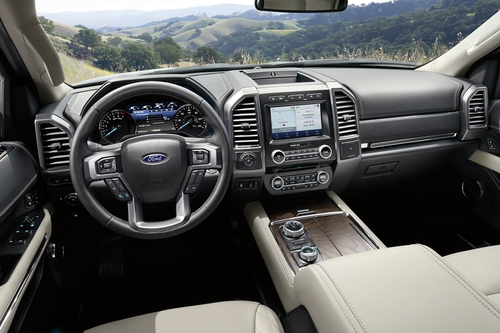 2020 Ford Expedition with available voice activated touchscreen