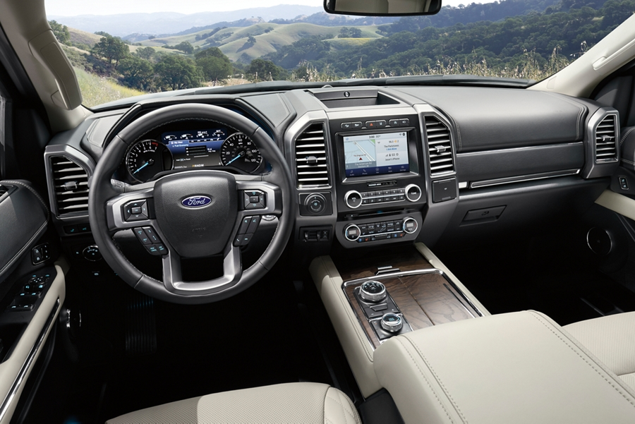 2020 Ford Expedition Platinum interior in Medium Stone with available features