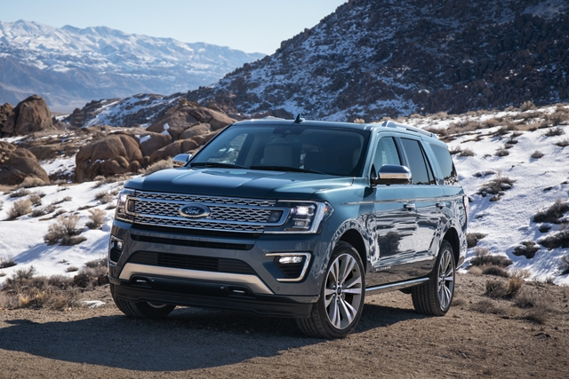 2020 Ford Expedition Platinum with independent front and rear suspension