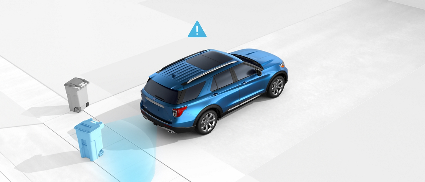 Illustration showing Reverse Brake Assist