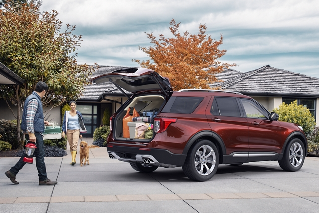 Cargo Room in 2020 Ford Explorer