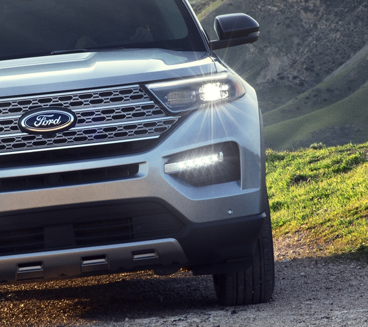 A 2020 Explorer Platinum at the top of a mountain