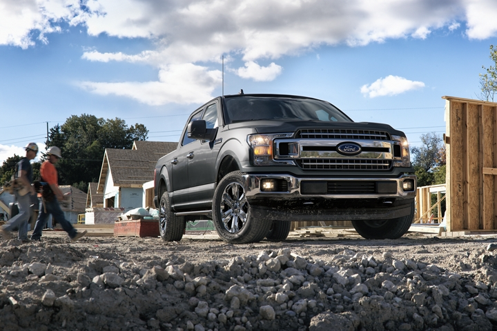 2020 Ford F 1 50 X L T SuperCrew at housing construction site