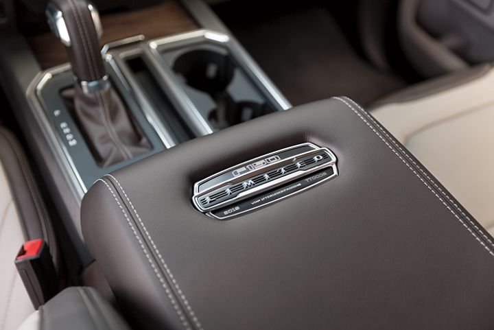 The center console in the limited model