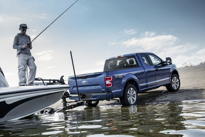 2020 Ford F 1 50 at boat launch