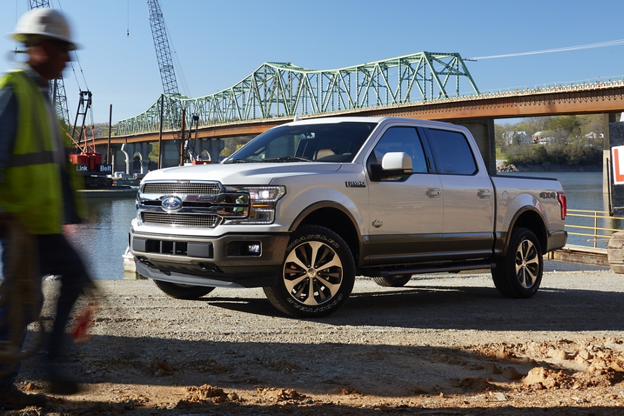 2020 Ford F 1 50 parked at riverfront