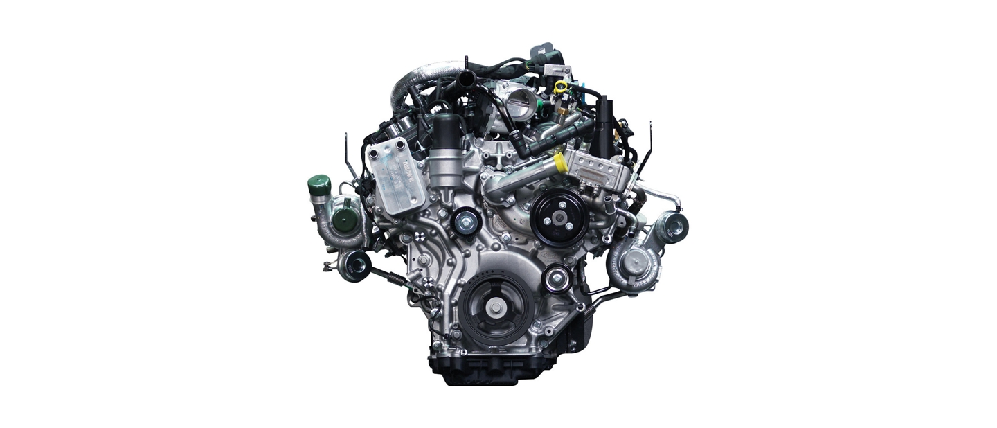 2 point 7 liter turbocharged EcoBoost engine