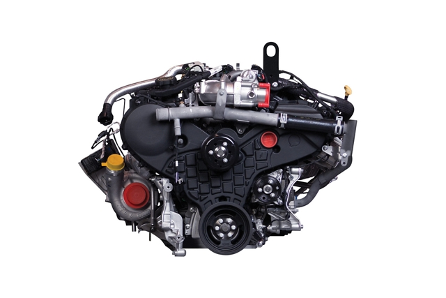 3 point 0 liter Power Stroke turbo V6 diesel engine