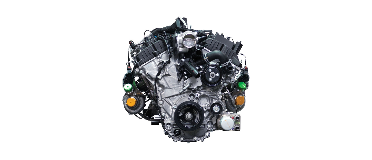 3 point 5 liter twin turbocharged EcoBoost engine