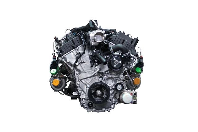 MotorEcoBoostde 3.5 litros con turbocargadores gemelos