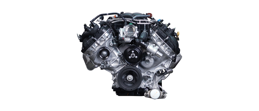 5 point 0 liter V 8 engine