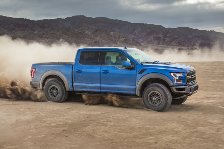 2020 Ford F 1 50 Raptor Super Crew with available beadlock capable wheels