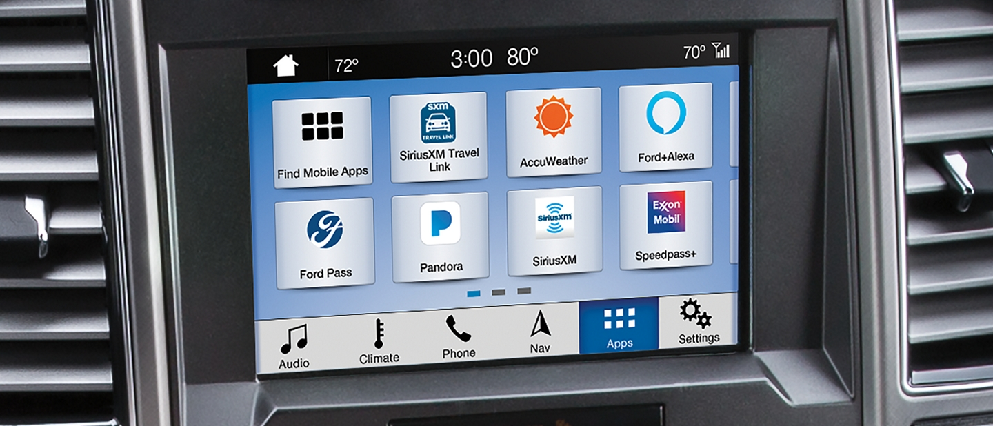 Center dash panel display showing SYNC 3