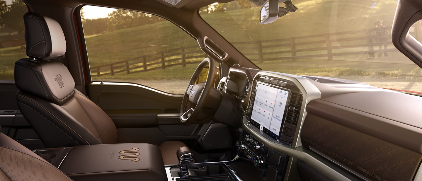 2021 Ford F one fifty King Ranch interior