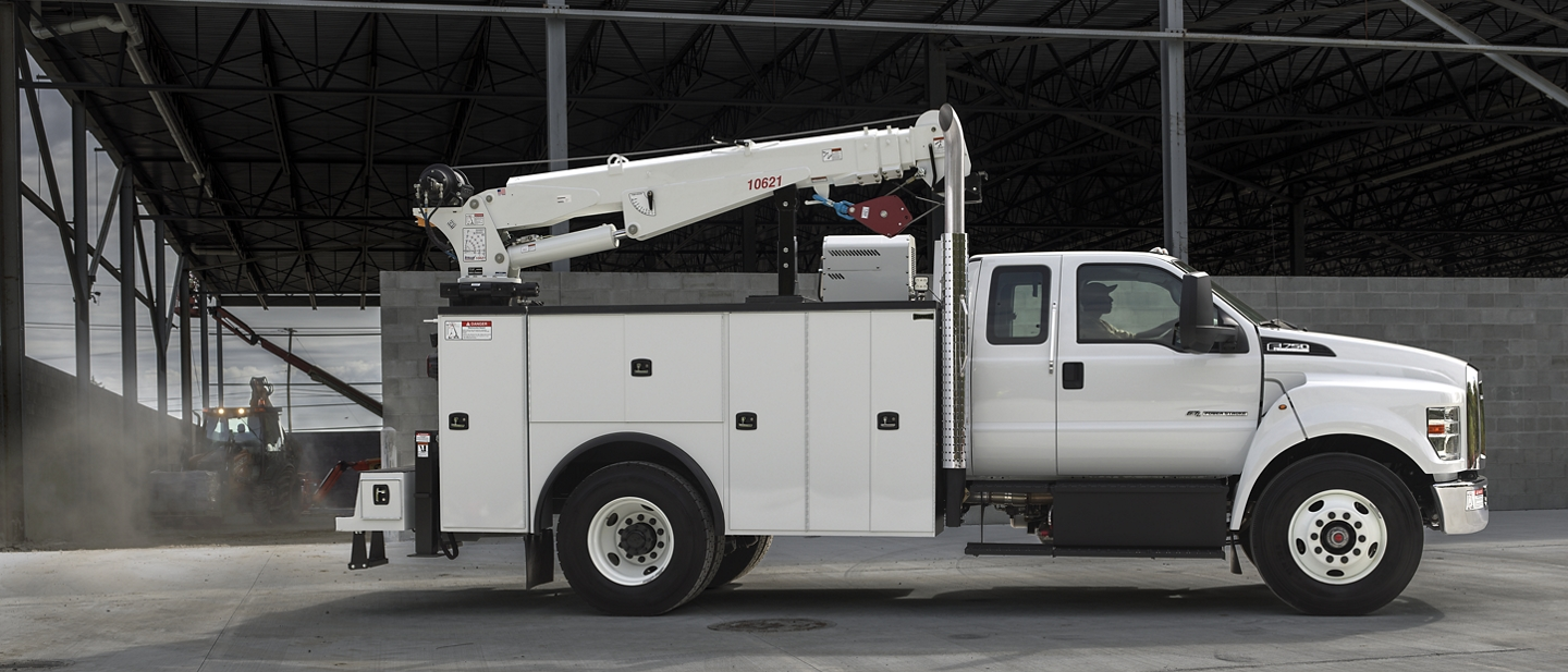 2021 Ford F 7 50 SuperCab with mechanic truck upfit in Oxford White