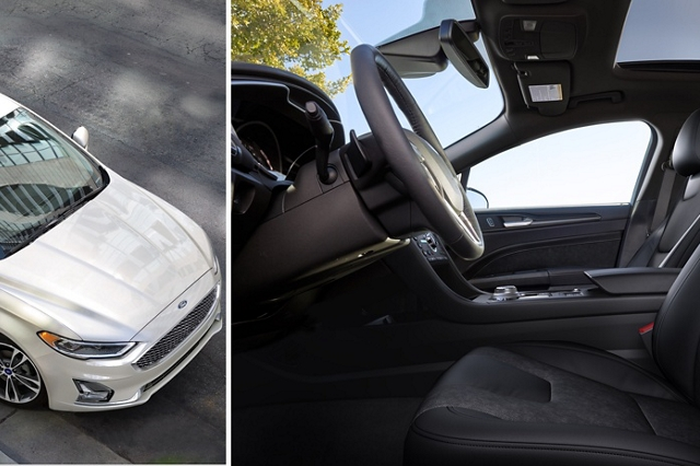 Available power moonroof opening up the 2020 Ford Fusion for a little extra sunlight