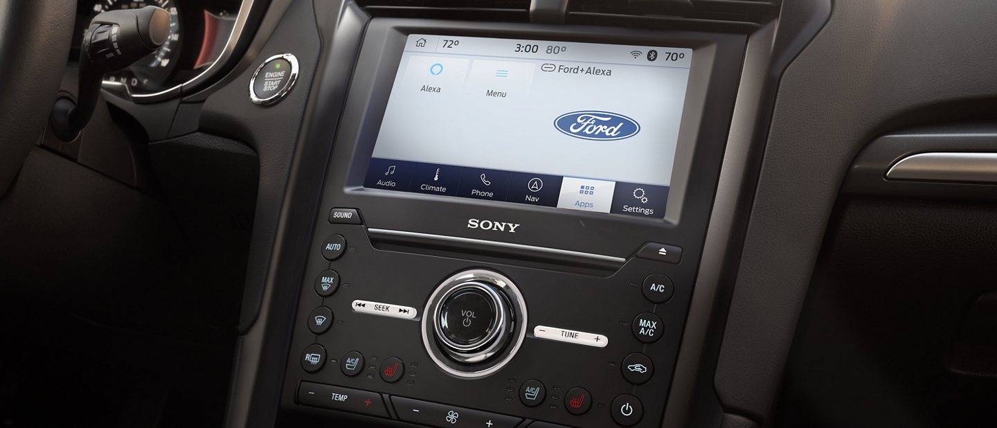 2020 Ford Fusion touchscreen with Alexa