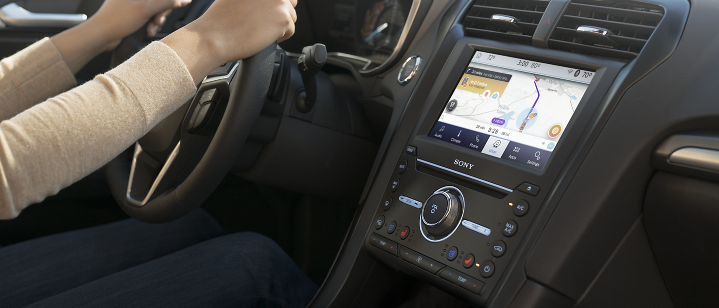 2020 Ford Fusion touchscreen with Ford and Waze