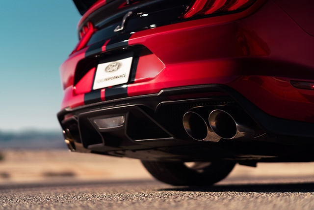 Close up of the available active valve performance exhaust
