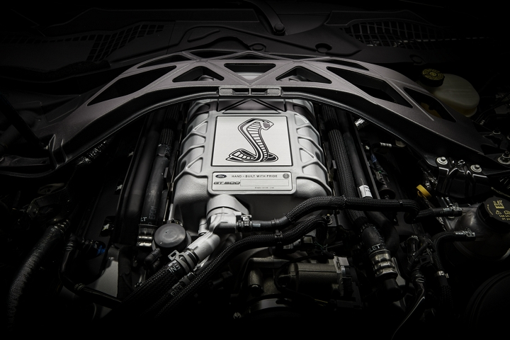 Close up of the 2020 Ford Mustang G T 500 engine