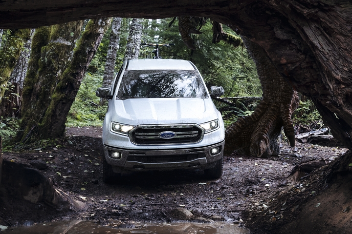 2019 Ford Ranger in heavy forest