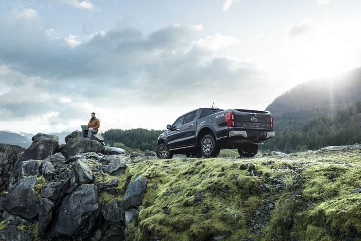 2019 Ford Ranger on rocky terrain