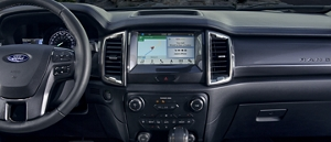 Sync  On Eight Inch Center Dash Screen Of  Ford Ranger