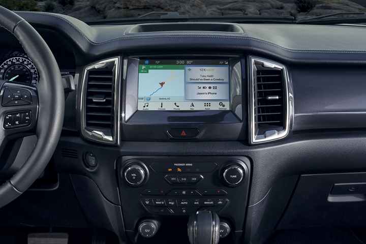 2019 Ranger LARIAT instrument panel with dual zone electronic climate control system and more