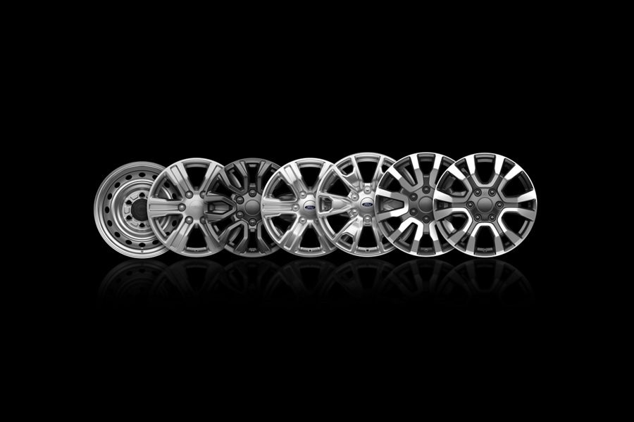 Línea de Ruedas de la Ford Ranger 2019