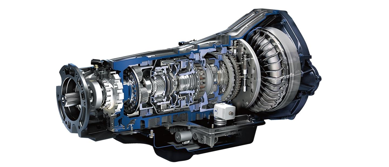 Vista del corte de la transmisión automática Ford TorqShift SelectShift de seis velocidades