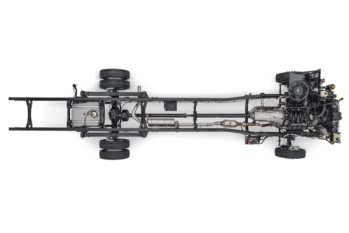 Overhead view of a 2020 Ford F 59 Commercial Stripped Chassis