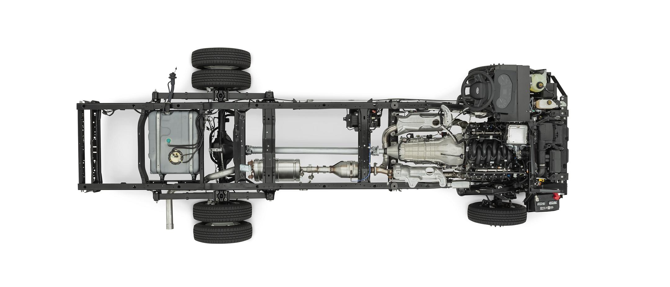 Motor V 8 Economy de siete punto tres litros