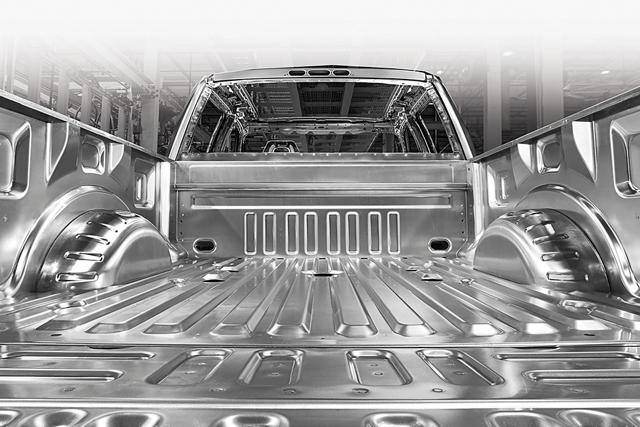 Plataforma de aluminio de alta resistencia y grado militar de la Ford Super Duty 2020