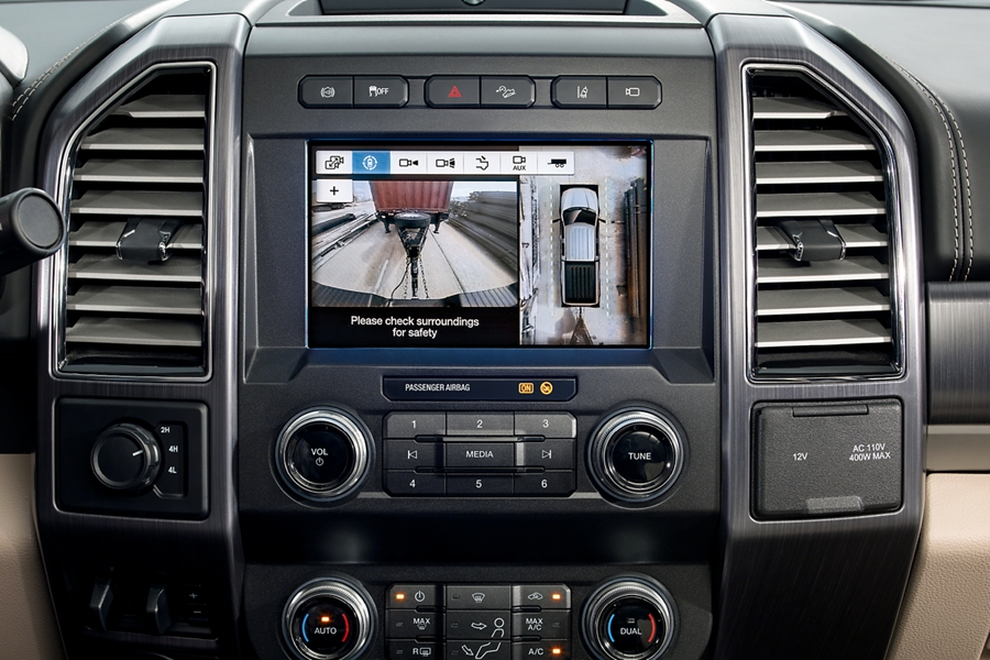 Camera display in center dash screen
