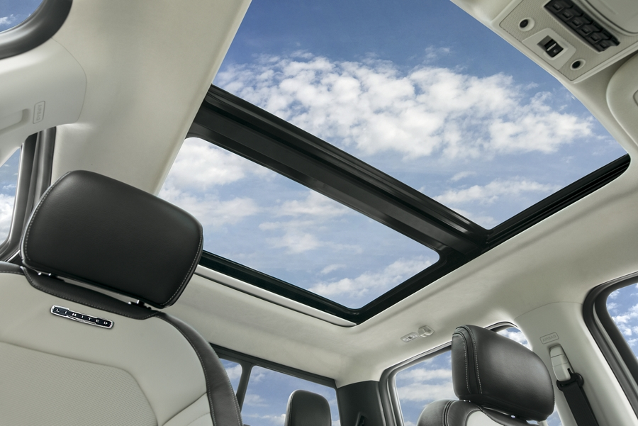 Looking up through the 2020 twin panel moon roof