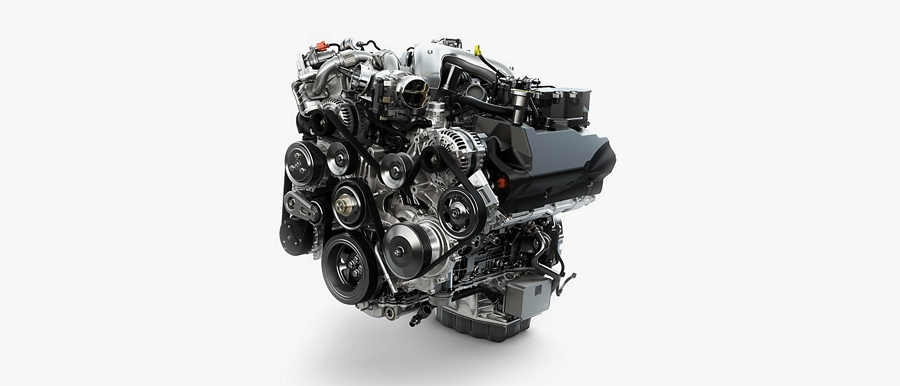6 point 7 liter Power Stroke V8 turbo diesel engine